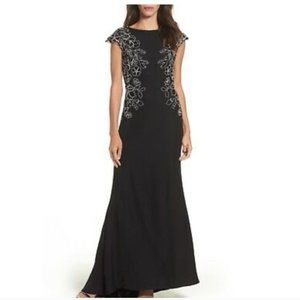 Tadashi Shoji *NEW* Black White Mino Lace Gown
